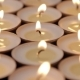 Lit Small Candles Background