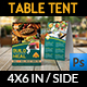 Restaurant Table Tent Template Vol.14 - GraphicRiver Item for Sale