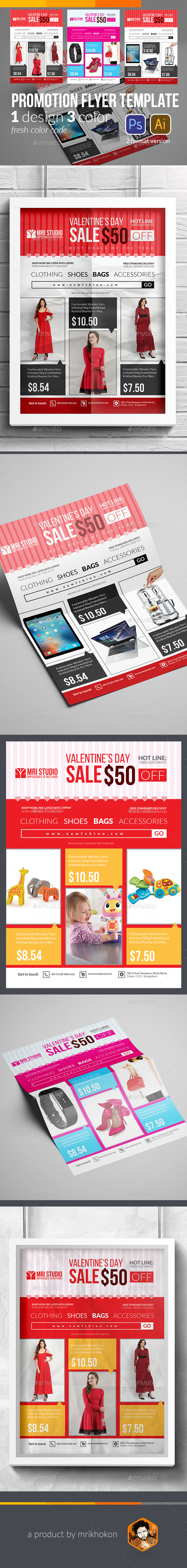 Promotion Flyer Template - Holidays Events
