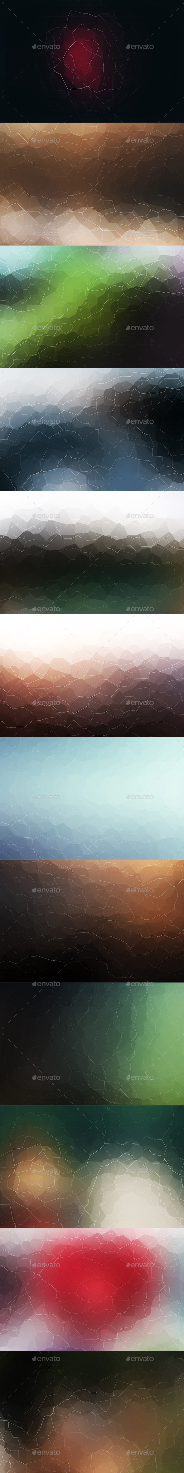 Crystallized Backgrounds Vol 11 - Abstract Backgrounds
