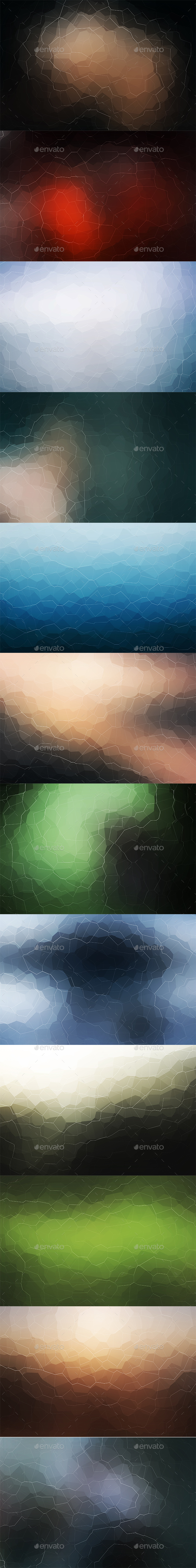 Crystallized Backgrounds Vol 12 - Abstract Backgrounds