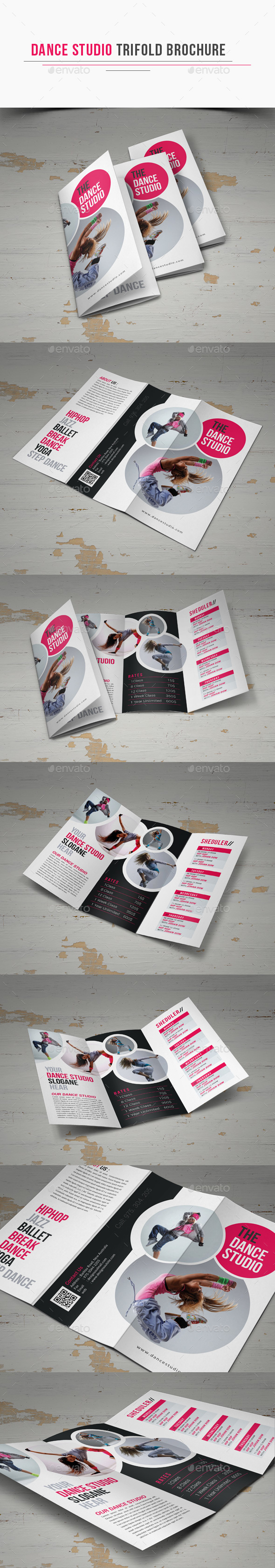 Dance Studio Trifold Brochure - Corporate Brochures