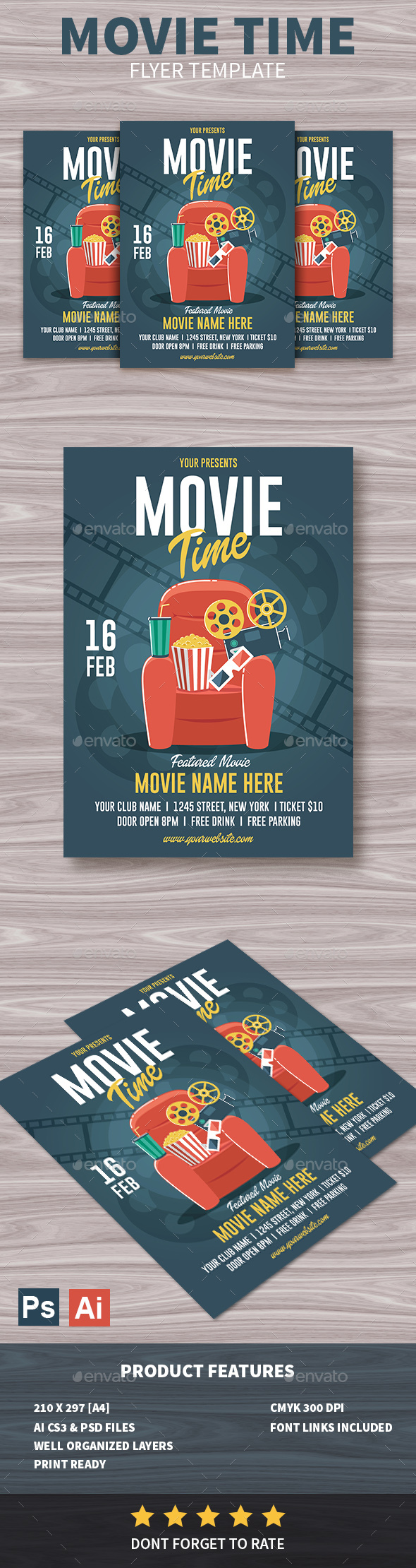 Movie Time Flyer - Events Flyers