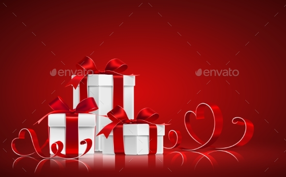 Gifts with Ribbons - Valentines Seasons/Holidays