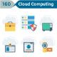 Cloud Computing Flat Icons