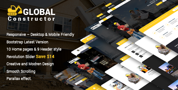 Global Constructor – Construction Single Page Bootstrap Template