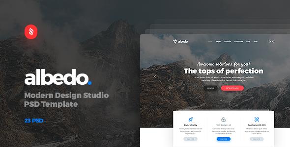 Albedo – Modern Design Studio PSD Template