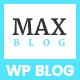Max Blog - Minimal WordPress Blog Theme - ThemeForest Item for Sale