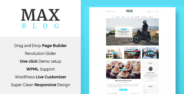 Max Blog – Minimal WordPress Blog Theme