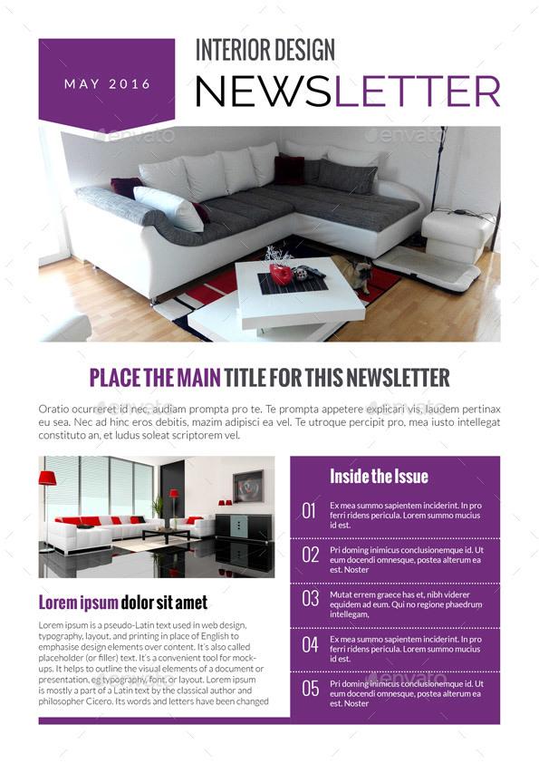Interior Design Newsletter Gorgeous 3 Newsletters Bundlemagic_Reflection  Graphicriver 2017