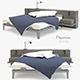 Modern Grey Wood Bed