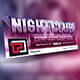 Night Club Facebook Cover Template - GraphicRiver Item for Sale