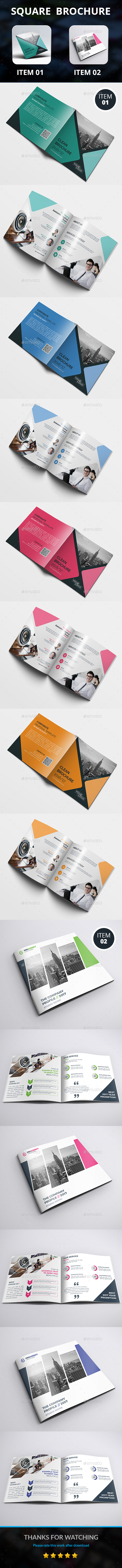 Square Brochure Bundle - Corporate Brochures