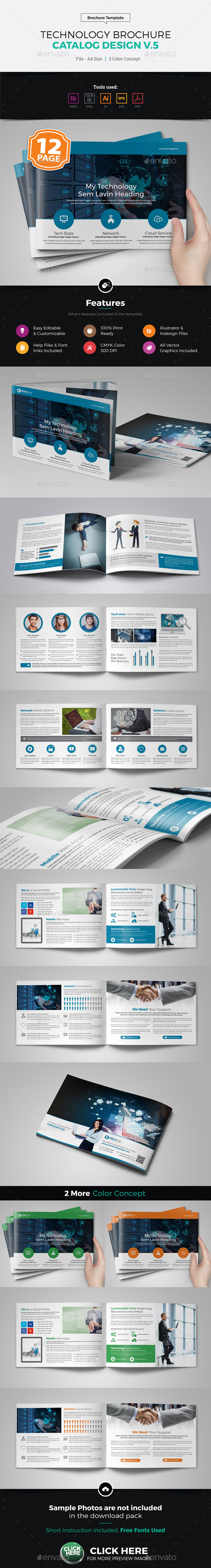 Technology Brochure Catalog Design v5 - Corporate Brochures