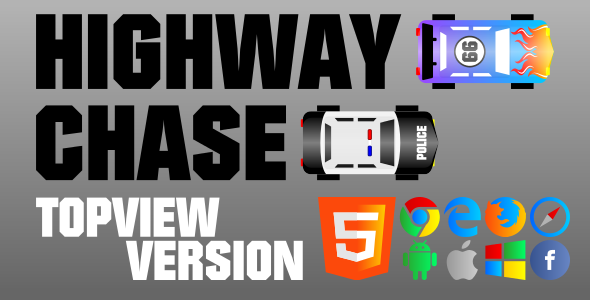 Highway Chase (TopView) - HTML5 Game - CodeCanyon Item for Sale