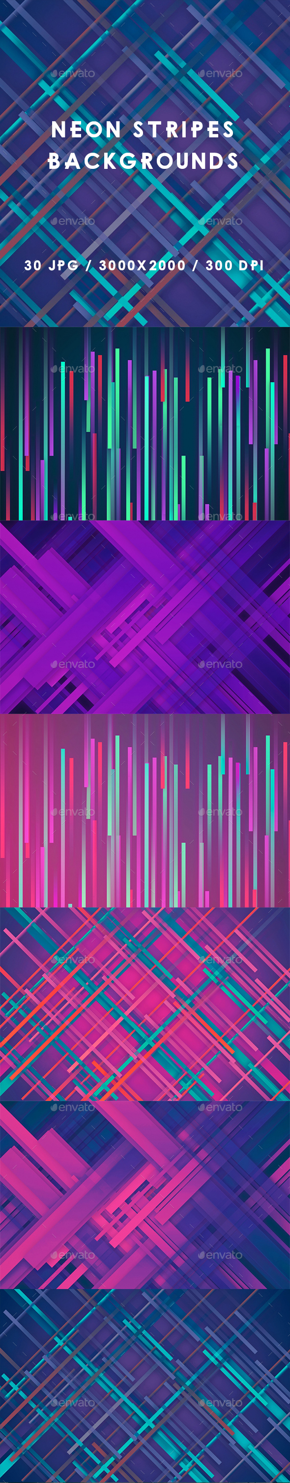 30 Neon Stripes Backgrounds - Abstract Backgrounds
