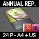 Annual Report Brochure Template  - 24 Pages - GraphicRiver Item for Sale