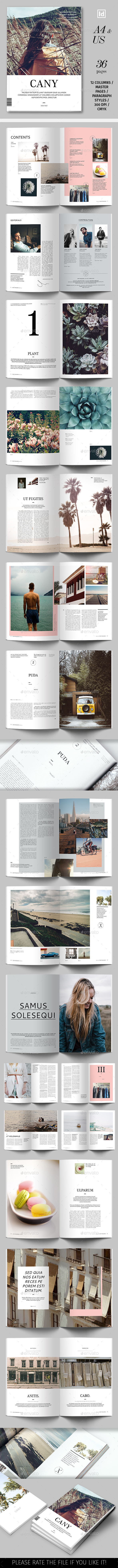 Cany Magazine Template - Magazines Print Templates