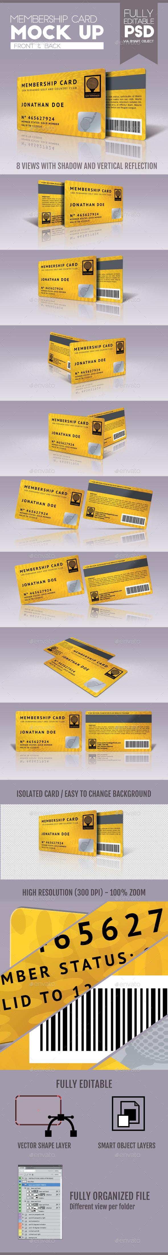 Membership Card - Miscellaneous Product Mock-Ups