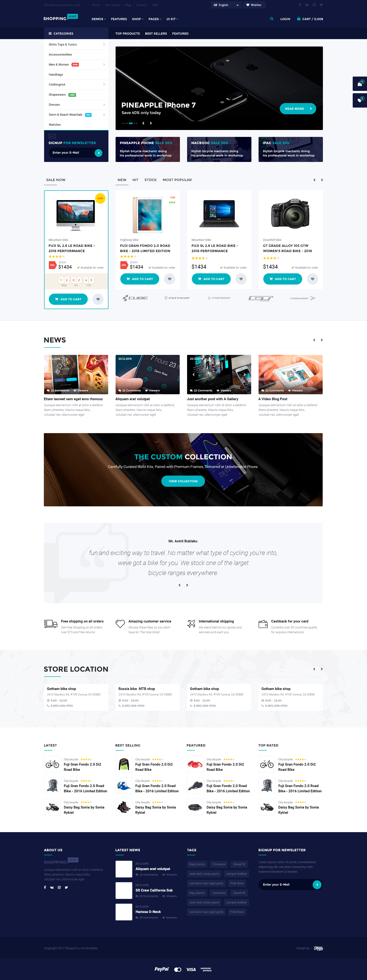 Shopping – multipurpose responsive e-commerce PSD template by MatArt