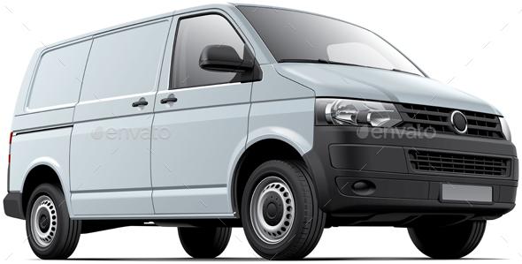 White Cargo Van - Vectors