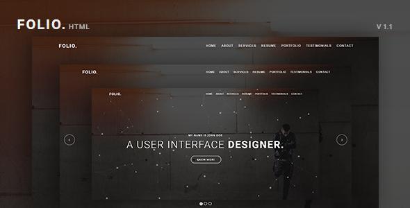 FOLIO. - Onepage Responsive Personal Portfolio Template - Portfolio Creative