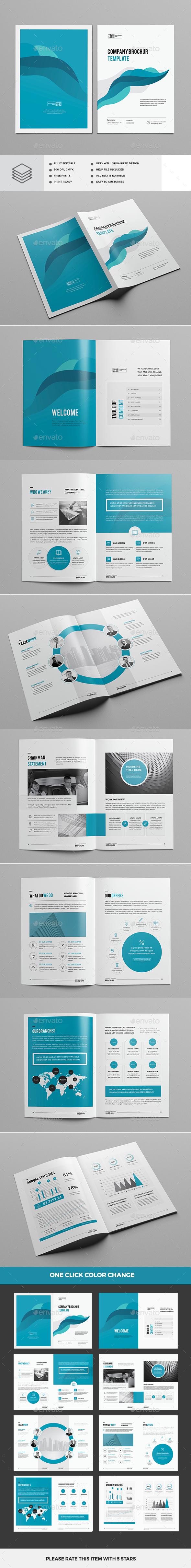 Clean & Modern Multipurpose Brochure - Corporate Brochures
