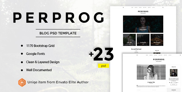 Perprog – Personal Blog PSD Template