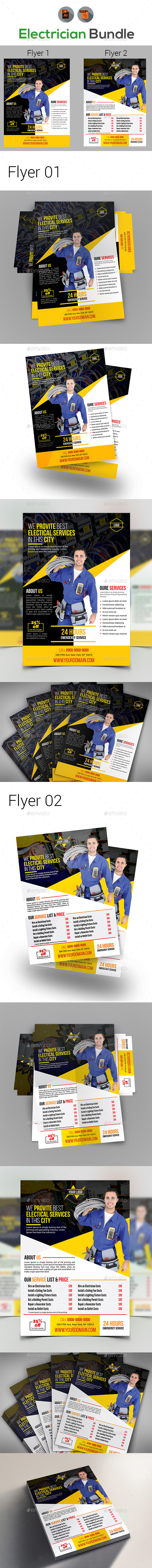 Electrical Services Flyers Templates - Corporate Flyers