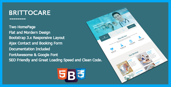 BrittoCare – Responsive Medical and HealthCare Template