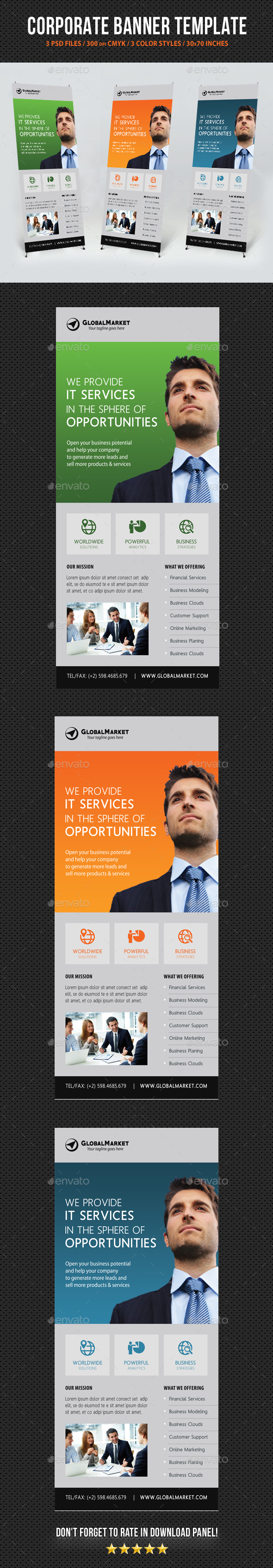 Corporate Business Banner Template V6 - Signage Print Templates