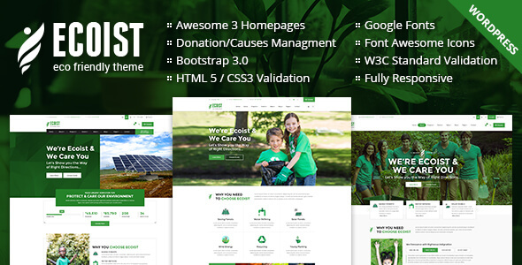 Ecoist – Environment & Non-Profit WordPress Theme