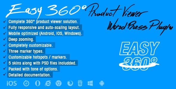 Easy 360° Product Viewer Wordpress Plugin