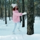 Winter Fairy Tale, Happiness, Lifestyle, Young Woman, a Beautiful Woman in a Knitted Sweater with