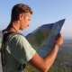Traveller Man with Map and Backpack Exploring Country on Trekking Adventure - VideoHive Item for Sale