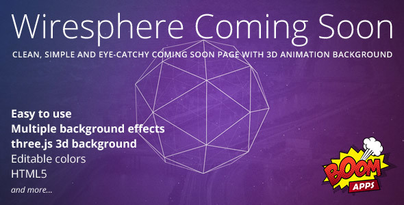 Wiresphere – Creative Coming Soon Template