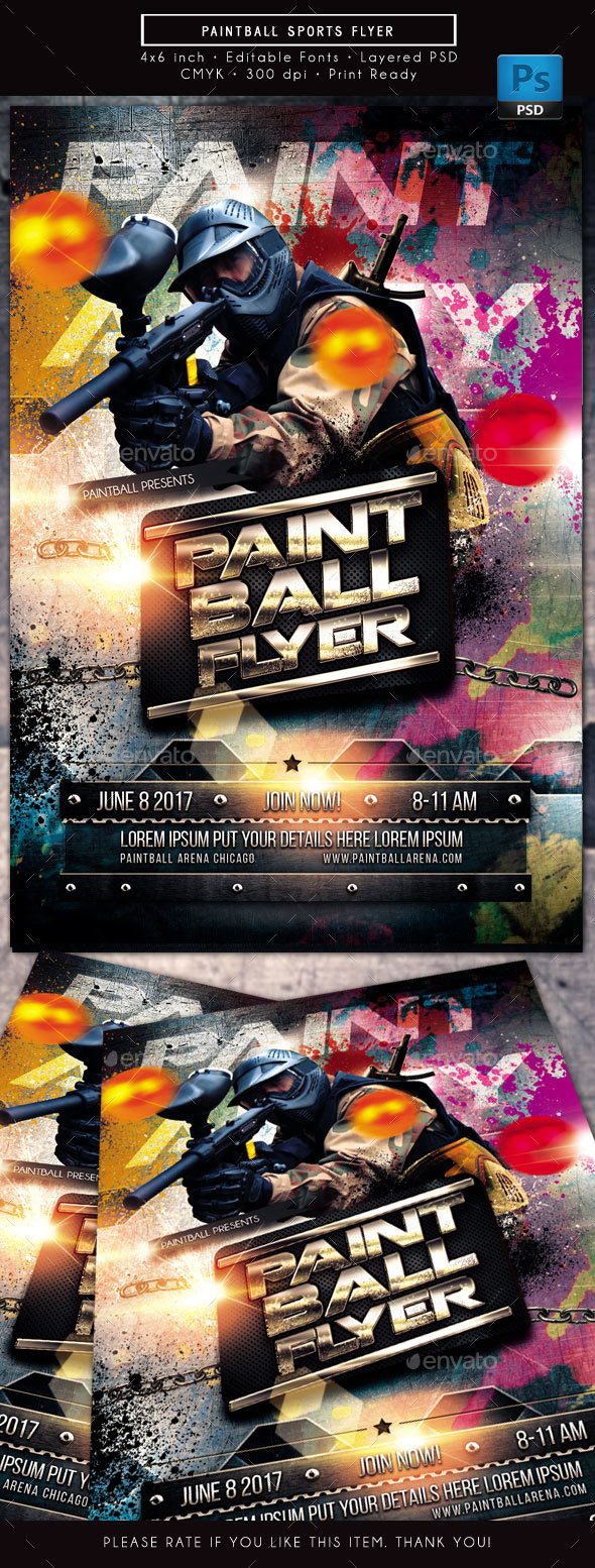 Paintball Speedball Sports Flyer - Sports Events