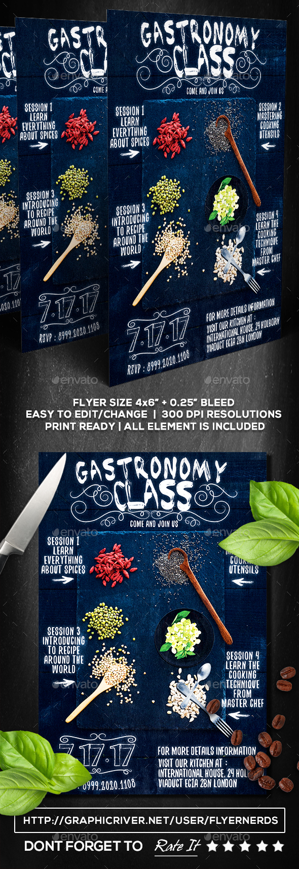 Gastronomy Class Flyer - Restaurant Flyers