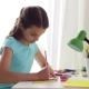 Happy Girl Drawing at Home 58