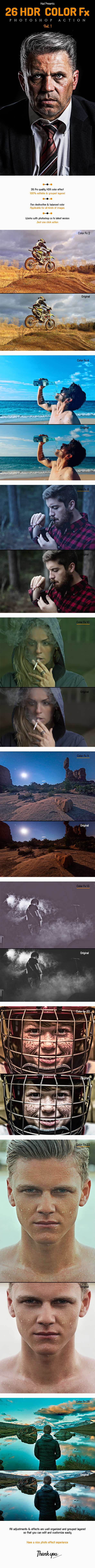 26 HDR Color Fx Action - Photo Effects Actions