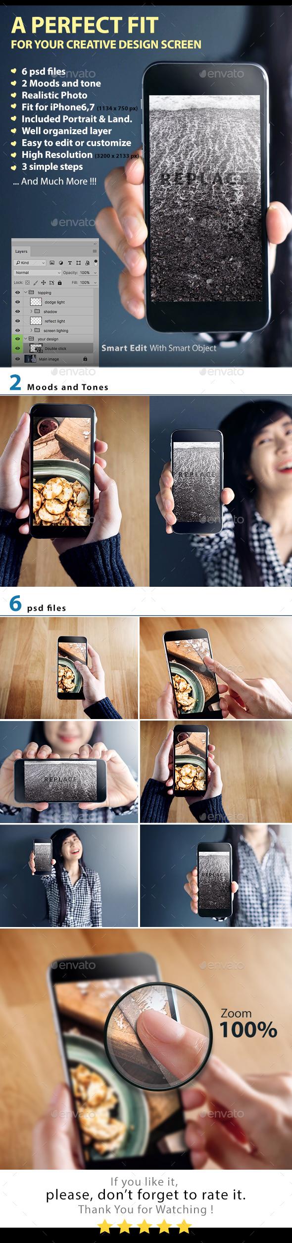 Phone Mockup Series1 - Mobile Displays