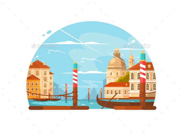 City of Venice - Buildings Objects