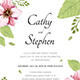 Flower Invitation - GraphicRiver Item for Sale