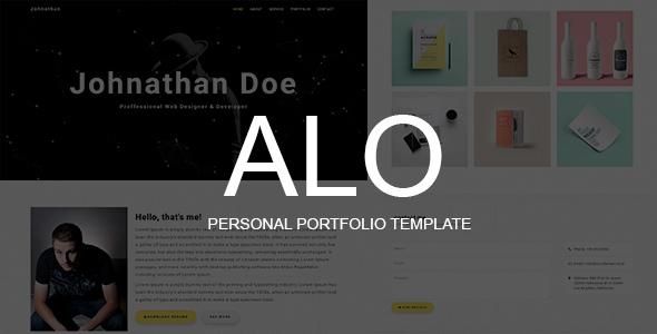ALO – Personal Portfolio Template
