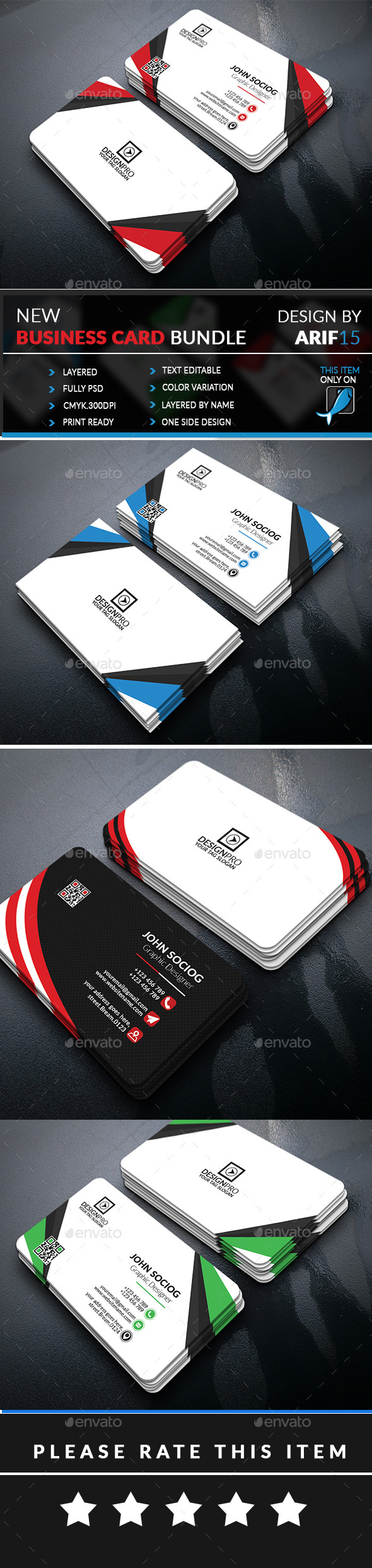 Bundle - Business Cards Print Templates