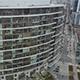 Aerial Tracking Shot Large Apartment Portland
