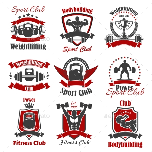 Athlete Bodybuilder and Weight Sport Icon - Sports/Activity Conceptual