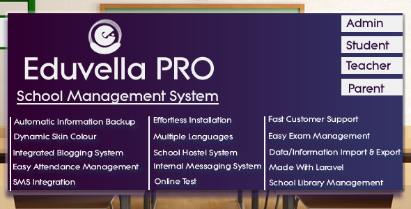 Eduvella - A Professional School Management System - CodeCanyon Item for Sale