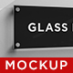 Rectangle Glass Plate Logo Mockup - GraphicRiver Item for Sale