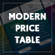 Modern price table - GraphicRiver Item for Sale